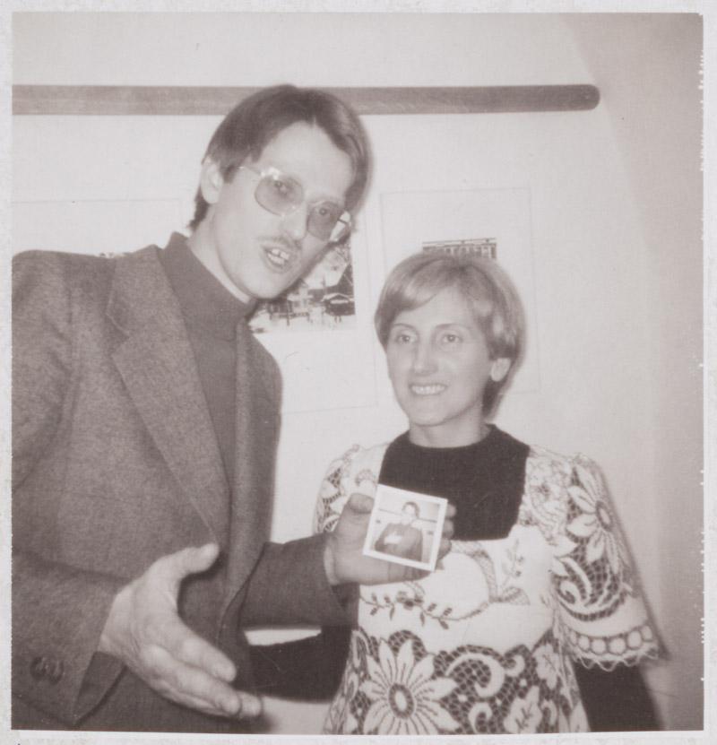 Werner Mraz and Anna Auer, gallery »Die Brücke«, 1975